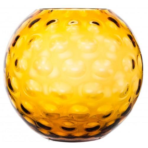 Vaso Ottica, vetro, colore ambra, altezza 255 mm