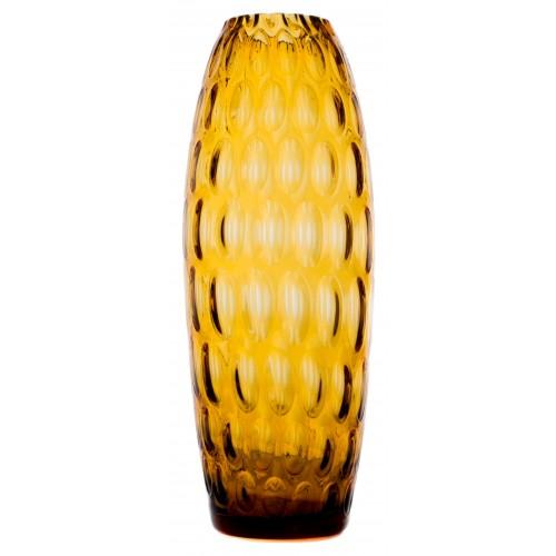 Vaso Ottica, vetro, colore ambra, altezza 300 mm