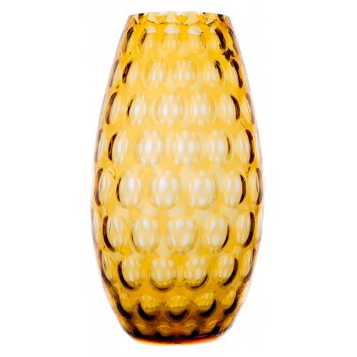Vaso Ottica, vetro, colore ambra, altezza 325 mm