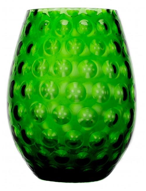 Vaso Ottica, vetro, colore verde, altezza 250 mm