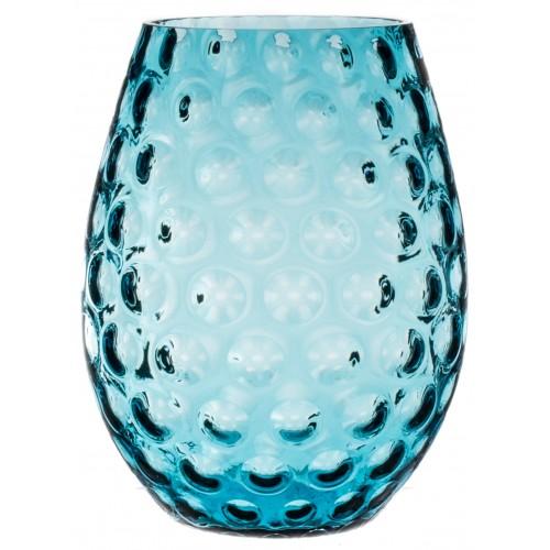 Vaso Ottica, vetro, colore azzurro, altezza 250 mm