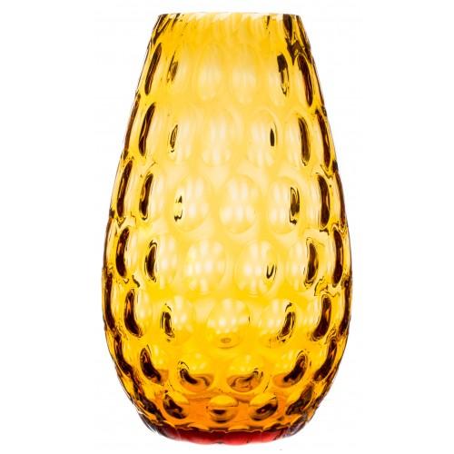 Vaso Ottica, vetro, colore ambra, altezza 250 mm