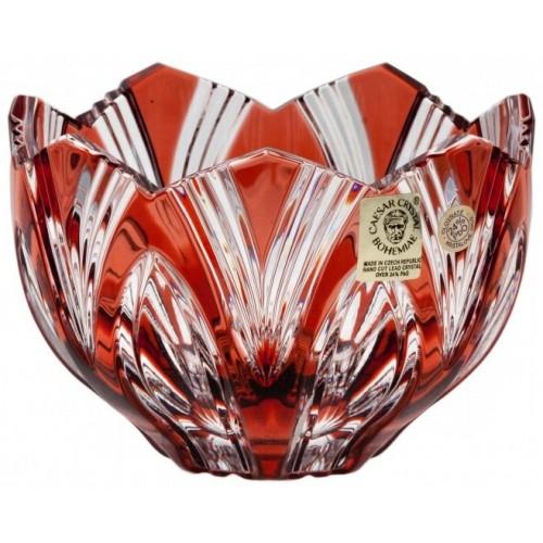 Ciotola Lotos, cristallo, colore rosso, diametro 110 mm