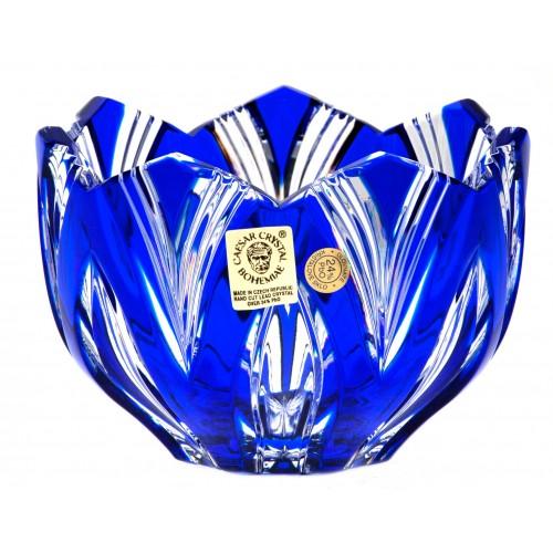 Ciotola Lotos, cristallo, colore blu, diametro 110 mm