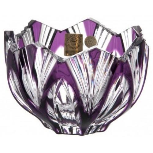 Ciotola Lotos, cristallo, colore viola, diametro 110 mm