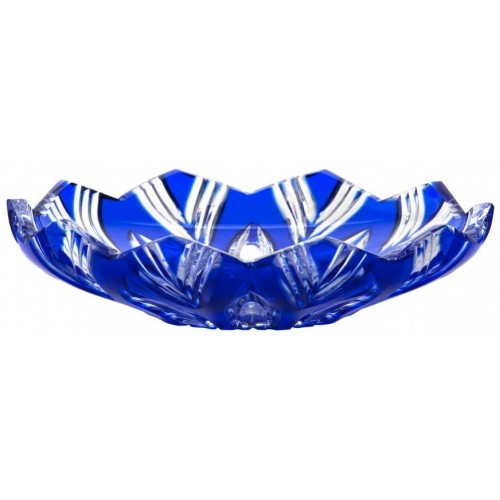 Piatto Lotos, cristallo, colore blu, diametro 145 mm