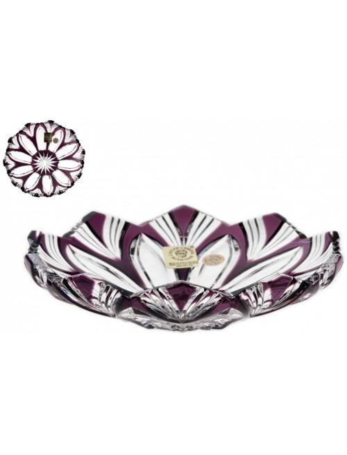 Piatto Lotos, cristallo, colore viola, diametro 145 mm