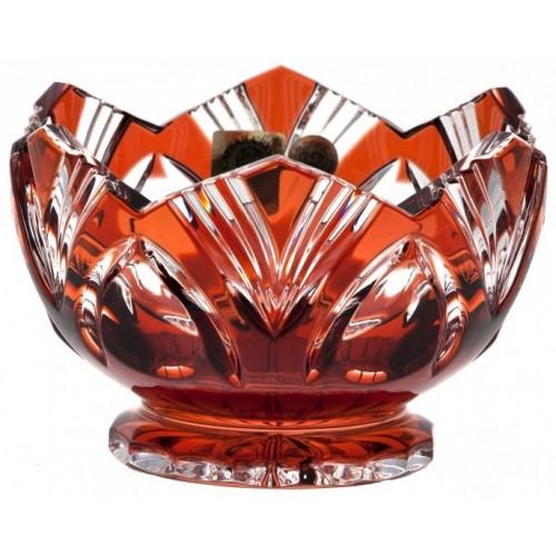 Ciotola Lotos, cristallo, colore rosso, diametro 104 mm