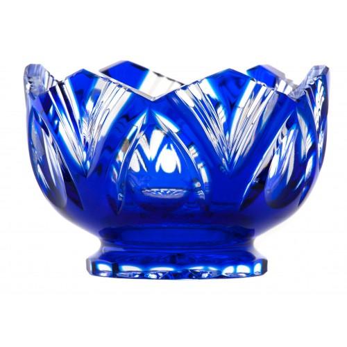 Ciotola Lotos, cristallo, colore blu, diametro 104 mm