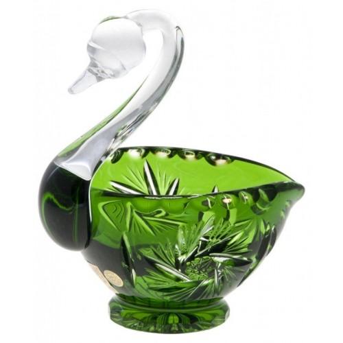 Cigno Pinwheel, cristallo, colore verde, diametro 114 mm