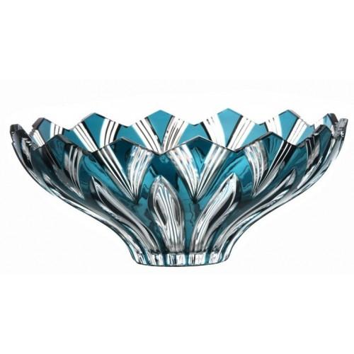 Insalatiera Lotos, cristallo, colore azzurro, diametro 275 mm