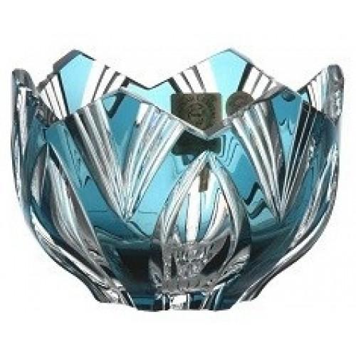 Ciotola Lotos, cristallo, colore azzurro, diametro 95 mm