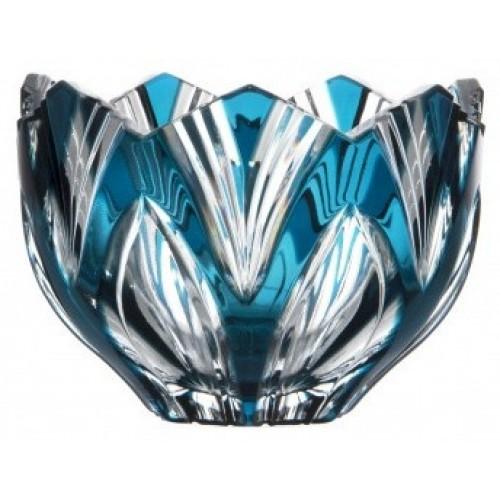 Ciotola Lotos, cristallo, colore azzurro, diametro 110 mm