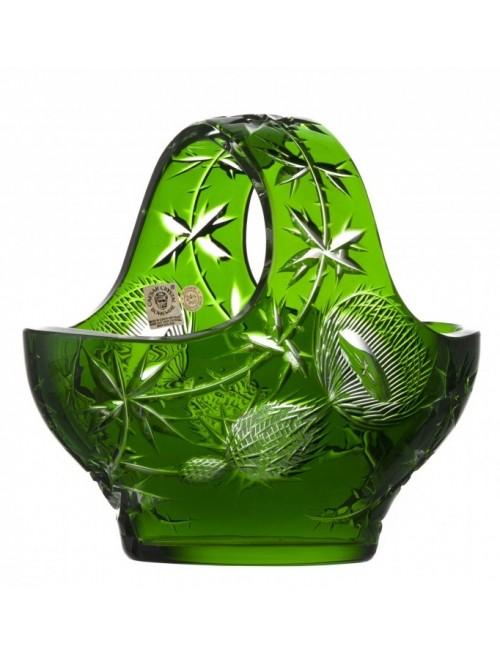 Cesto Thistle, cristallo, colore verde, diametro 200 mm