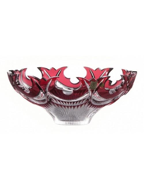 Insalatiera Diadem, cristallo, colore rosso, diametro 275 mm