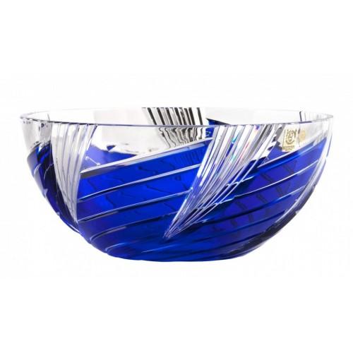 Insalatiera Whirl, cristallo, colore blu, diametro 250 mm