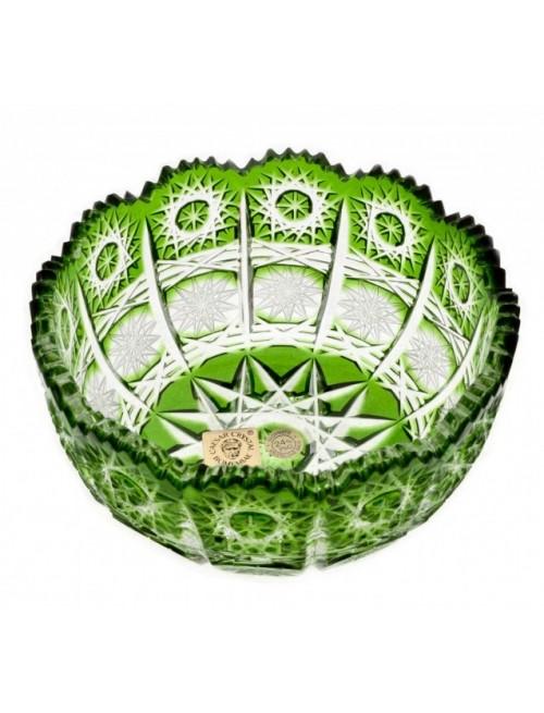 Ciotola Paula, cristallo, colore verde, diametro 116 mm