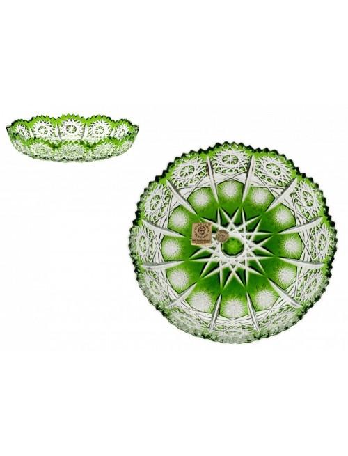 Piatto Puala, cristallo, colore verde, diametro 146 mm