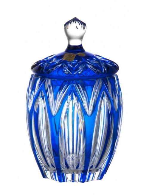 Confettiera Lotos, cristallo, colore blu, altezza 200 mm