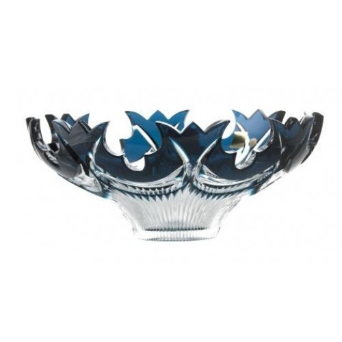 Insalatiera Diadem, cristallo, colore azzurro, diametro 275 mm