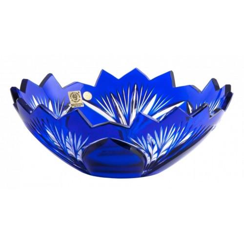 Insalatiera Jonathan, cristallo, colore blu, diametro 230 mm