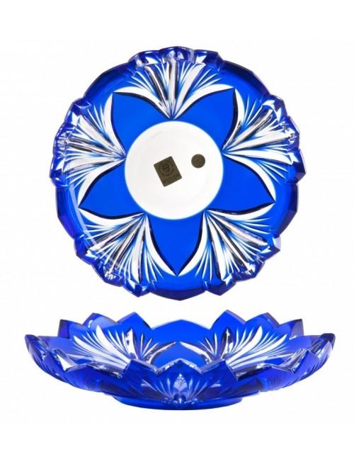 Piatto Jonathan, cristallo, colore blu, diametro 180 mm