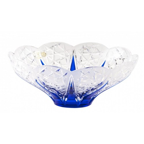 Insalatiera Flowerbud, cristallo, colore blu, diametro 275 mm