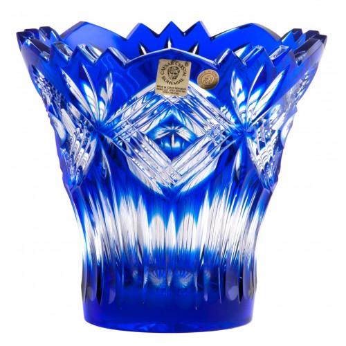 Vaso Mary, cristallo, colore blu, altezza 142 mm
