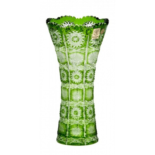 Vaso Paula, cristallo, colore verde, altezza 200 mm