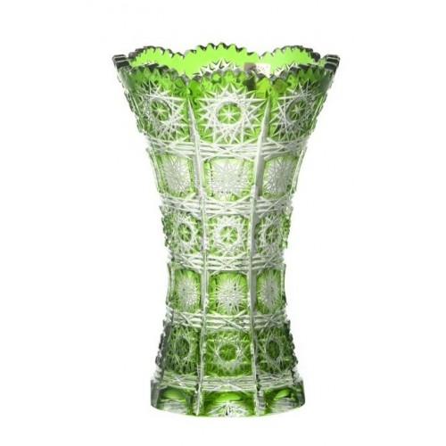 Vaso Paula II, cristallo, colore verde, altezza 180 mm