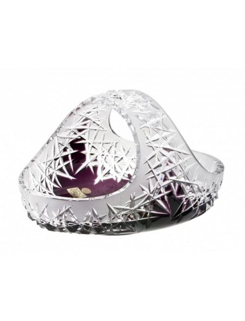 Cesto Hoarfrost, cristallo, colore viola, diametro 230 mm