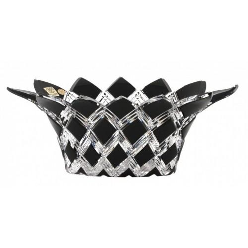Insalatiera Harlequin, cristallo, colore nero, diametro 300 mm