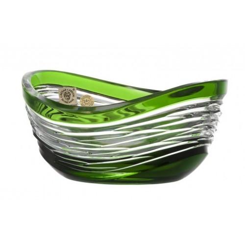 Ciotola Poem, cristallo, colore verde, diametro 120 mm