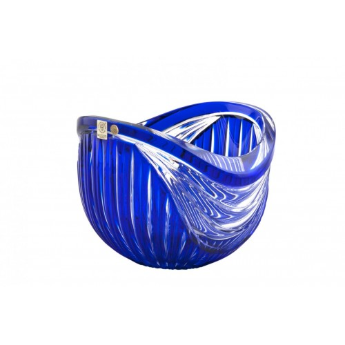 Insalatiera Harp, cristallo, colore blu, diametro 200 mm