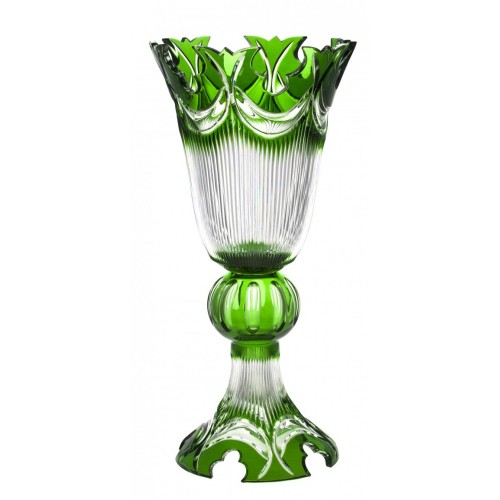 Vaso Diadem, cristallo, colore verde, altezza 505 mm