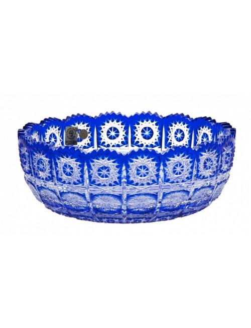 Insalatiera Paula, cristallo, colore blu, diametro 205 mm