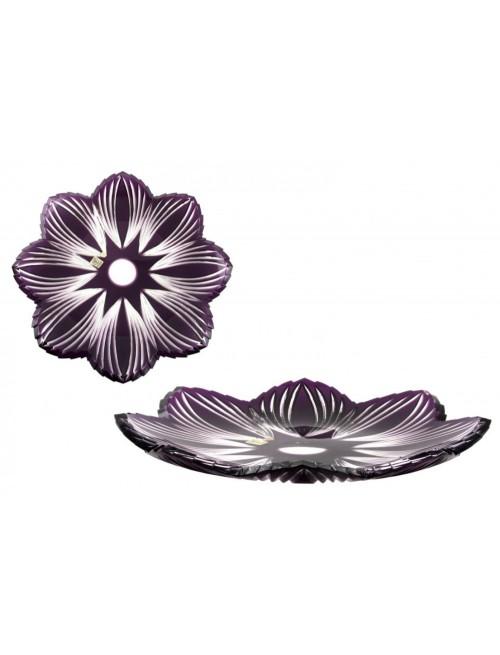 Piatto Edita, cristallo, colore viola, diametro 360 mm