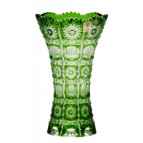 Vaso Paula III, cristallo, colore verde, altezza 205 mm