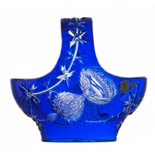 Cesto Thistle, cristallo, colore blu, diametro 200 mm