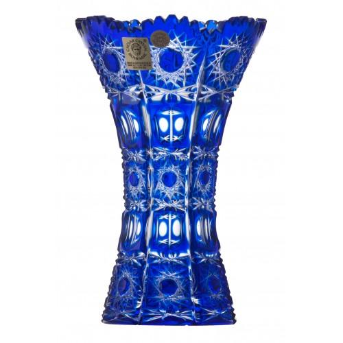 Vaso Petra, cristallo, colore blu, altezza 155 mm