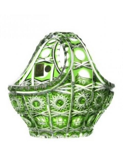 Cesto Petra, cristallo, colore verde, diametro 150 mm