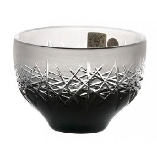 Ciotola Hoarfrost, cristallo, colore nero, diametro 95 mm