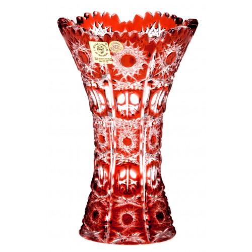 Vaso Petra, cristallo, colore rosso, altezza 155 mm