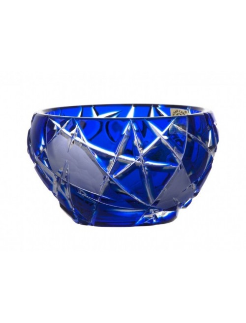 Ciotola Mars, cristallo, colore blu, diametro 110 mm