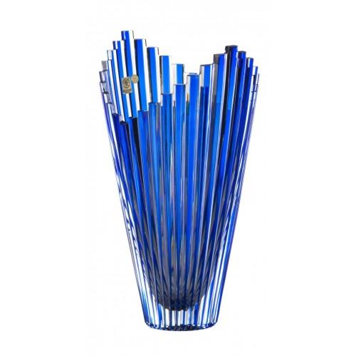 Vaso Mikado, cristallo, colore blu, altezza 310 mm