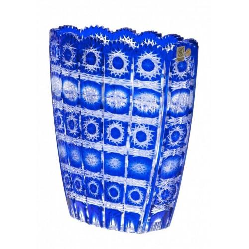 Vaso Paula, cristallo, colore blu, altezza 230 mm