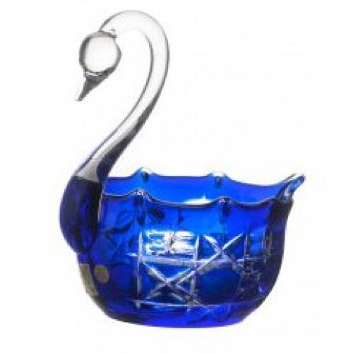 Cigno Octagon, cristallo, colore blu, diametro 116 mm