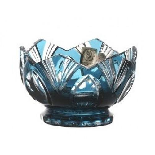 Ciotola Lotos, cristallo, colore azzurro, diametro 104 mm