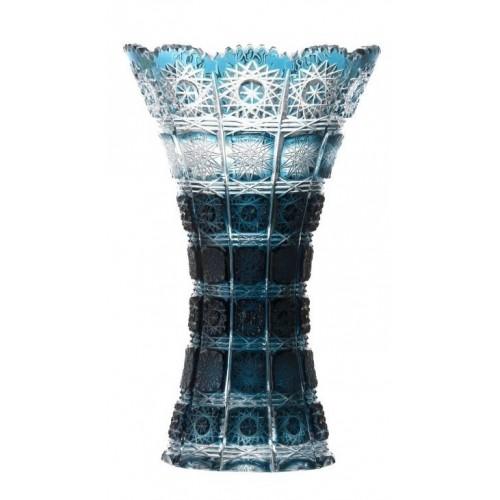 Vaso Paula, cristallo, colore azzurro, altezza 255 mm