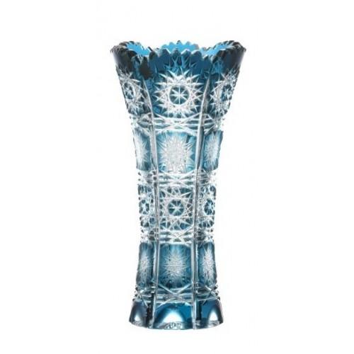 Vaso Paula, cristallo, colore azzurro, altezza 150 mm
